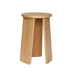 Hubsch Stool Oak High 880913
