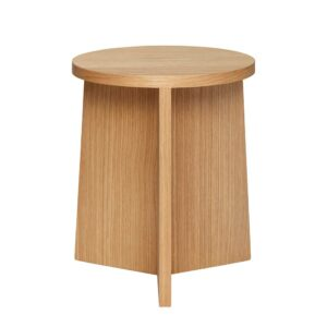 Hubsch Stool Oak Low 880912