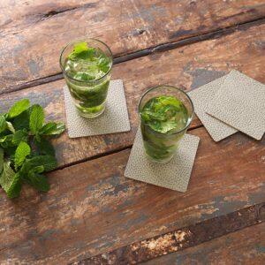 Linddna 983513 Glass Mat Square Hippo Olive Green 2