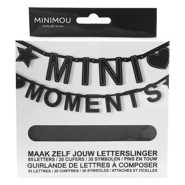 Mimo 7 1002 Nl Fr Letterbanner Mini Moments Bilingual Black 135 Pieces
