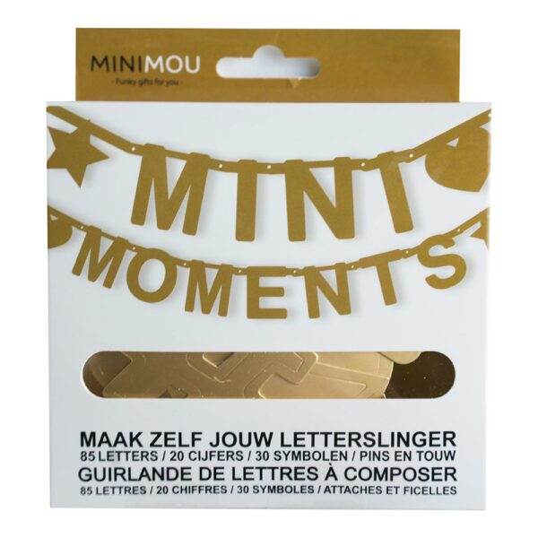 Mimo 7 1004 Nl Fr Letterbanner Mini Moments Bilingual Gold 135 Pieces