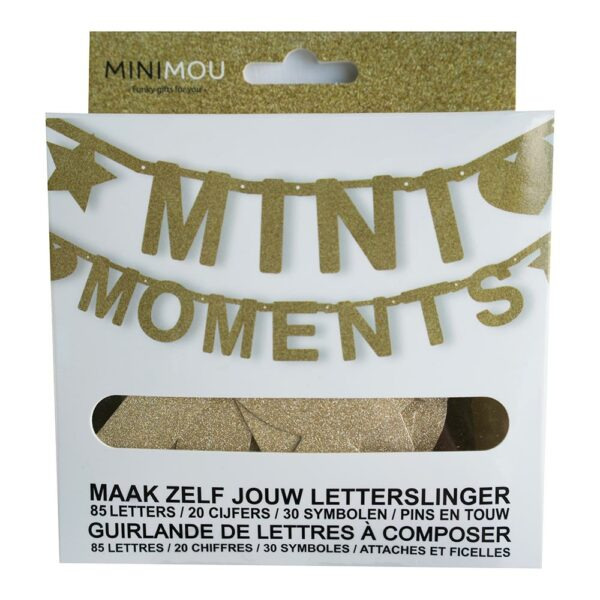 Mimo 7 1005 Nl Fr Letterbanner Mini Moments Bilingual Gold Glitter 135 Pieces