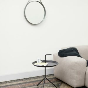 HAY-Strap Mirror Grey Dlm Side Table Black