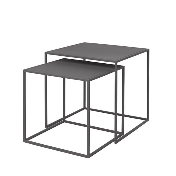 Blomus 65985 Fera Set2tables Steelgray