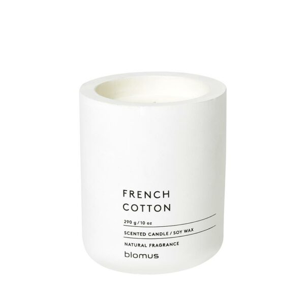 Blomus 65654 Scented Candle French Cotton 290g Lily White Fraga