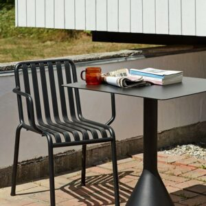 Hay Palissade Armchair Anthracite Palissade Cone Table Anthracite