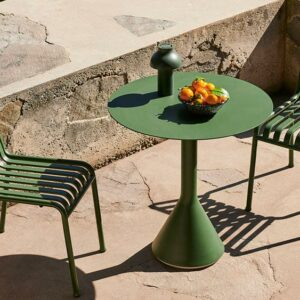 Hay Palissade Chair Palissade Cone Table Pc Portable Olive Enamel Serving Bowl Sprinkle Black