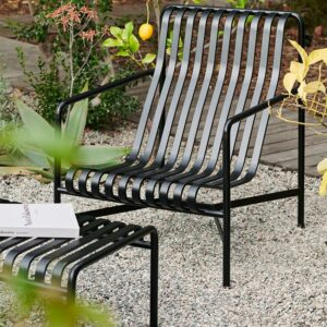 Hay Palissade Lounge Chair High Palissade Ottoman Anthracite