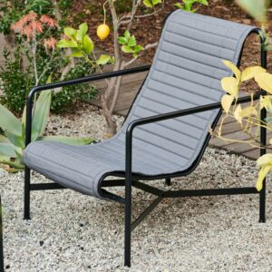 Hay Palissade Lounge Chair High Anthracite Palissade Lounge Chair High Quilted Cushion Anthracite