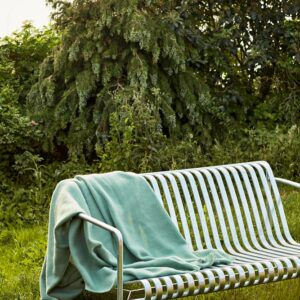 Hay Palissade Lounge Sofa Hot Galvanised Mono Blanket Verdigris Green