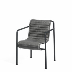 Hay Palissade Dining Armchair Quilted Cushion Anthracite Palissade Dining Armchair Anthracite