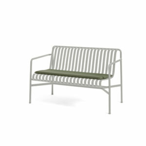 Hay Palissade Dining Bench Seat Cushion Olive Palissade Dining Bench Sky Grey