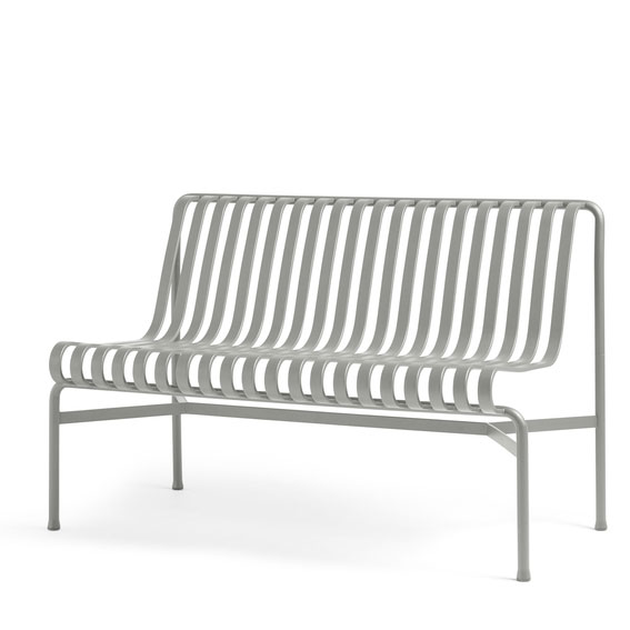 Hay Palissade Dining Bench Without Armrest Sky Grey
