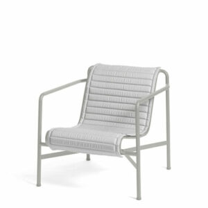 Hay Palissade Lounge Chair Low Quilted Cushion Sky Grey Palissade Lounge Chair Low Sky Grey