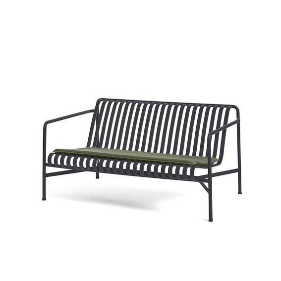 Hay Palissade Seat Cushion For Lounge Sofa Olive Palissade Lounge Sofa Anthracite
