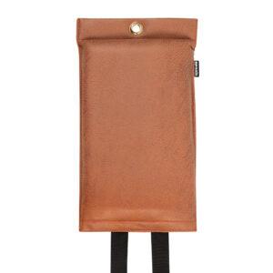 Naaais Vegan Cognac Design Blusdeken 1