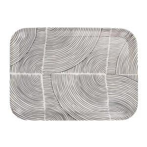 Zusss Melamine Dienblad Grafisch Patroon 43x32cm Zand 0707 004 0500 00 Voor
