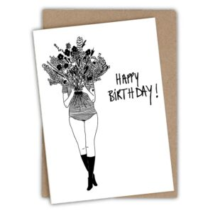 Greetingcard Happybirthday Flowergirl