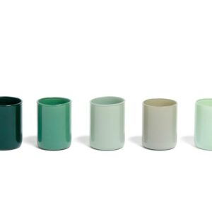 507471 Spot Votive Set Of 5 Green
