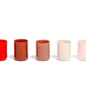 507473 Spot Votive Set Of 5 Red