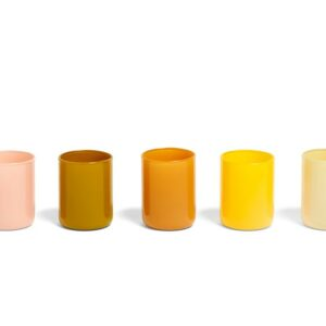 507474 Spot Votive Set Of 5 Yellow
