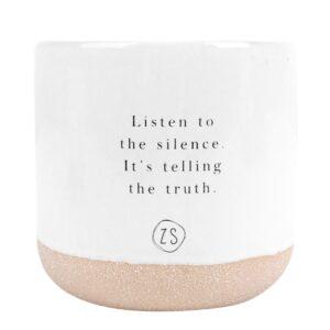 Zusss Keramieken Geurkaars Listen To The Silence 0503 062 0500 00 Voor