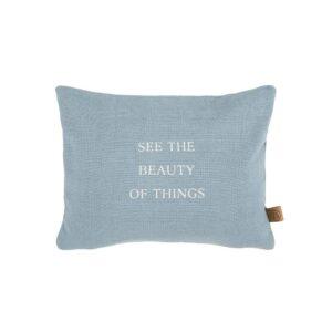 Zusss Kussen Beauty Of Things 35x25cm Grijs Blauw 0101 071 1034 00 Voor
