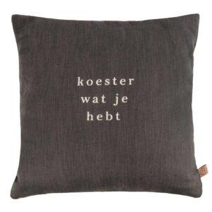 Zusss Kussen Koester 45x45cm Grafietgrijs 0101 077 1028 00 Voor